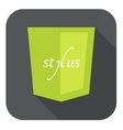 light green shield with css vector image