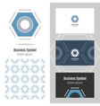 Logo for your company Hexagon Business card and vector image
