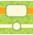 Set of frame environmental seamless pattern vector image