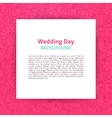 Wedding Day Paper Template vector image