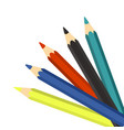colourful pencils on a white background vector image