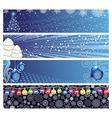 Christmas Horizontal Banner vector image