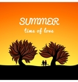 Poster summer landscape style love theme vector image