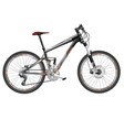 mountain bike full suspension vector image