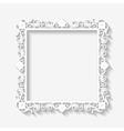 Vintage white frame background vector image
