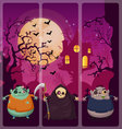 Halloween and background set 5 vector image