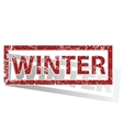 WINTER outlined stamp vector image