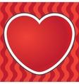 Postcard heart background vector image