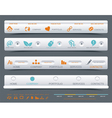 A collection of web panels vector image