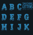 abstract smashing mesh letters vector image