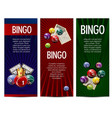 bingo lottery lotto game banners set vector image