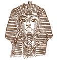 Golden mask of Egyptian pharaoh vector image