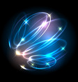 helix lighted lines abstract effects vector image