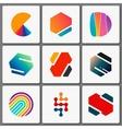 Logo design set Geometric logos Creative vector image