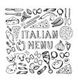 Restaurant cafe italian menu vector image