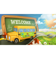 Road to school background vector image
