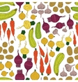 Seamless pattern with fresh vegetables vector image