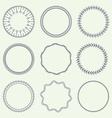 Set of Minimal Round Vintage Frames vector image