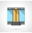 Shopping center facade flat design icon vector image