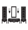 Vintage Sideboard cabinet Showcase silhouette vector image
