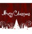 Handwriting Merry Christmas vector image