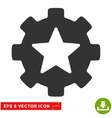 Star Favorites Options Gear Eps Icon vector image