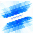 blue perspective abstract background in business vector image