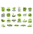 health and beauty care logtypes spayoga vector image