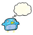 cartoon bluebird with thought bubble vector image