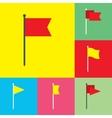 Flag Flat Icons Set vector image