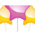 star shaped balloons vector image