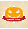 Happy Halloween label vector image vector image
