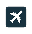 airplane icon Rounded squares button vector image