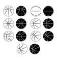 basketball ball set vector image