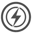 Electrical Hazard Icon Rubber Stamp vector image