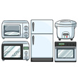 Electronic equipment used in kitchen vector image