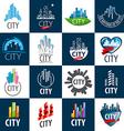 large set of logos city vector image