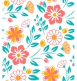 Seamless flower pattern on white background vector image