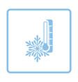 Winter cold icon vector image