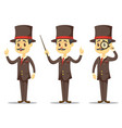 - funny cartoon victorian vector image