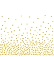 Random Falling Golden Dots Background vector image