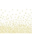 Random Falling Golden Dots Background vector image