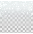 Falling snow backdrop on transparent background vector image