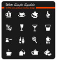 utensils for beverages icon set vector image