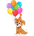 Birthday Puppy vector image vector image
