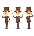 - funny cartoon victorian vector image