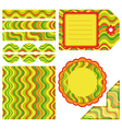 Easter set of stripe design elements vector image