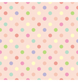 Polka dots seamless pink background or pattern vector image vector image