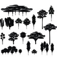trees cartoon set vector image vector image