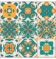 Pattern from the arabic tiles vector image